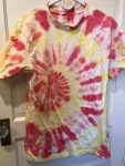 Red and Yellow Tie dye