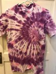 Purple and Pink Spirals Tie-dye